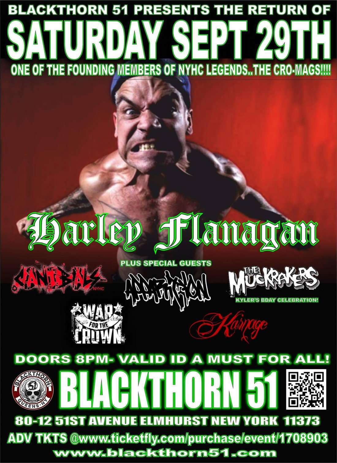 NEW YORK HARDCORE HELL with HARLEY FLANAGAN(Cro-Mags)CANIBALS NYCAPPARITION