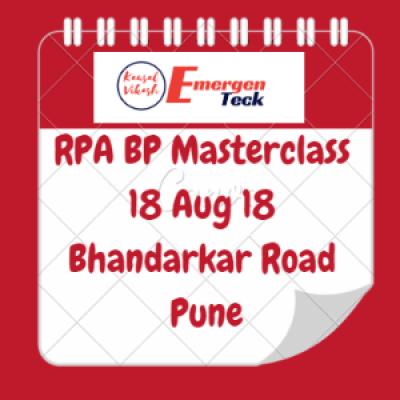 Cognitive RPA Blue Prism Masterclass Training  Bhandarkar RoadPune  18 Aug 18  930 AM