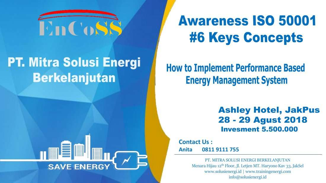 Awareness ISO 50001 How to Implement Performance Based Energy Management System