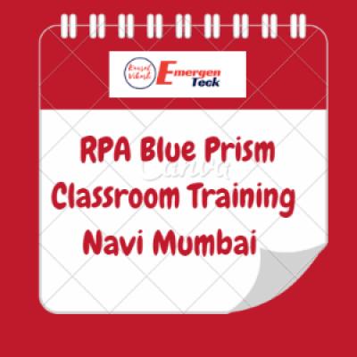 RPA Blue Prism Classroom Training  1 September 2018  930 AM  Navi Mumbai
