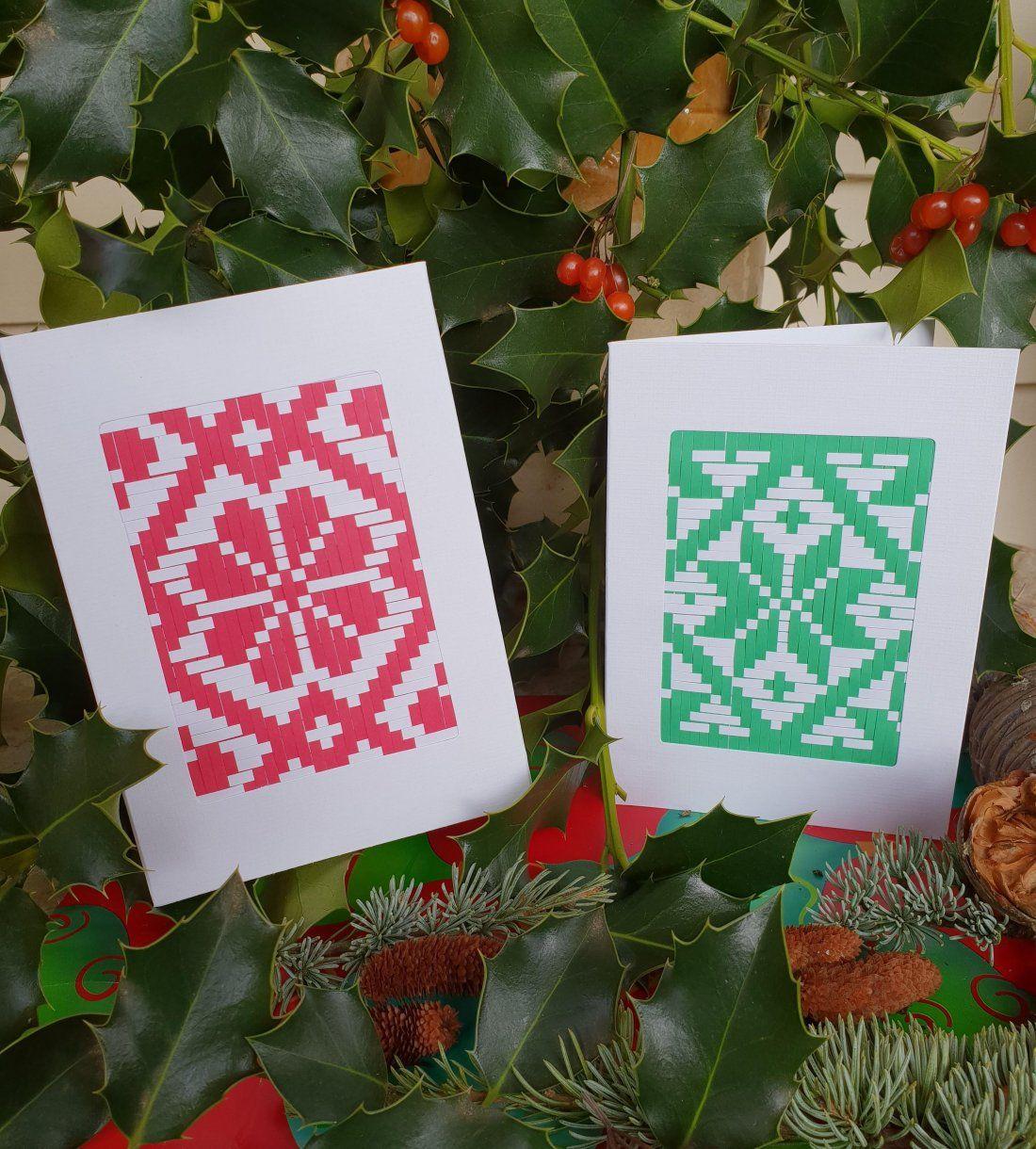 Weave a Christmas Card Craft Workshop at Plant Craft Cottage, Melbourne