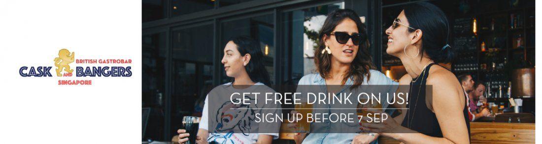 Get FREE drink on us