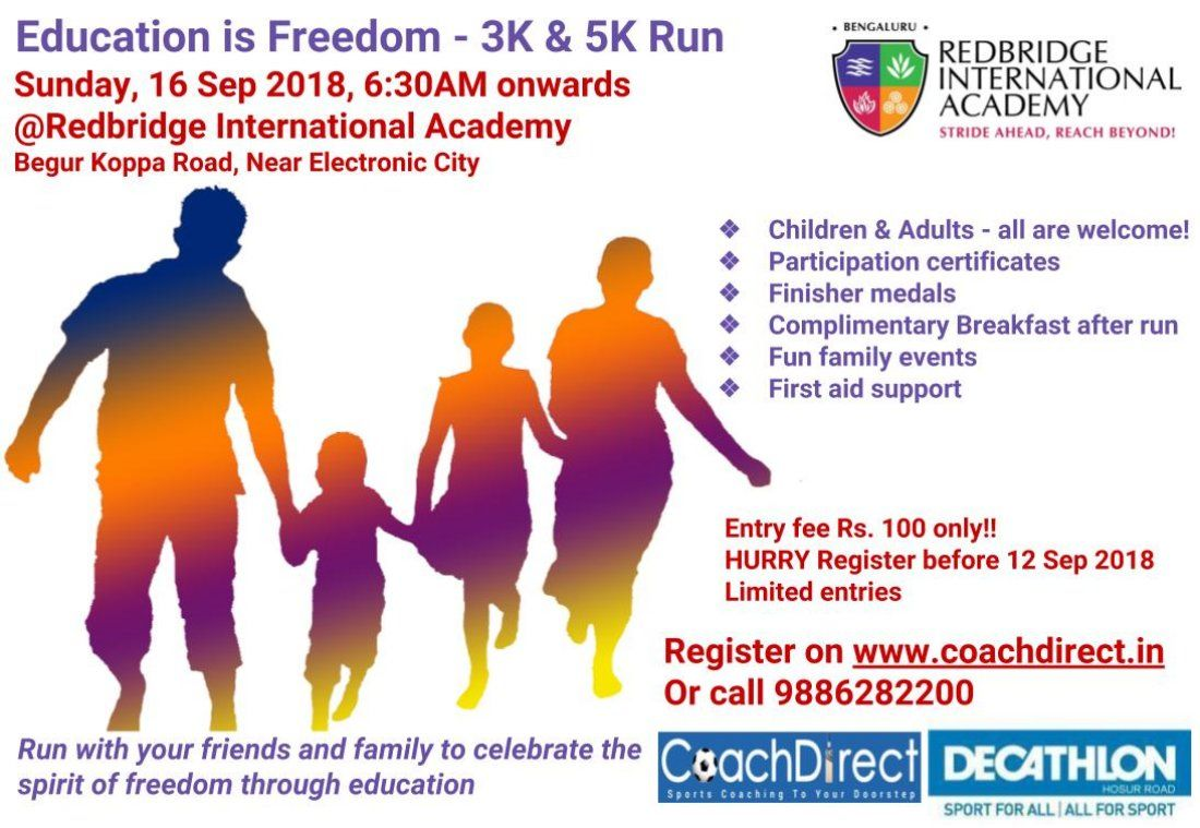 Education is Freedom - 3K and 5K run