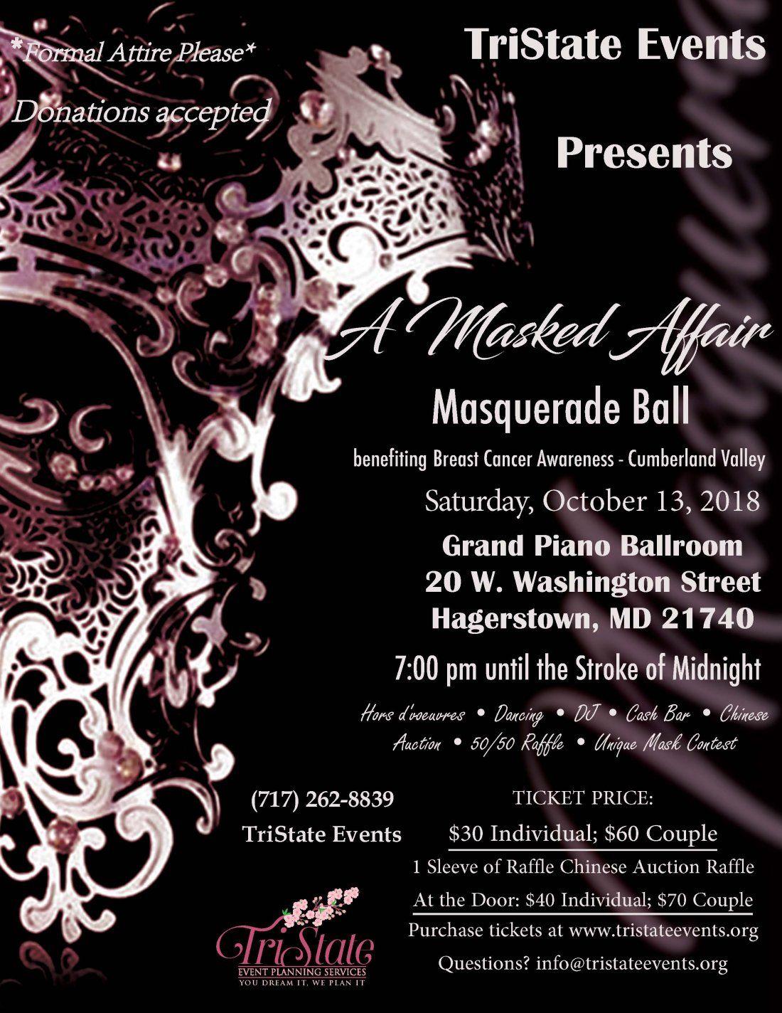 2nd annual masquerade ball benefit for bca cv