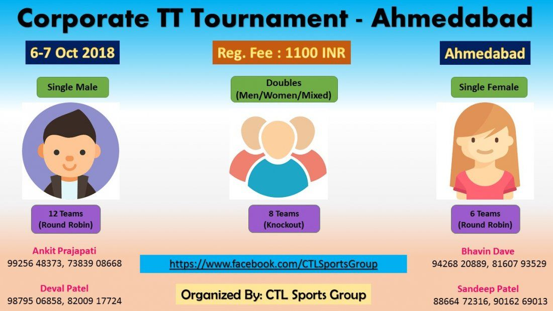Corporate Table Tennis Tournament - CTL 1