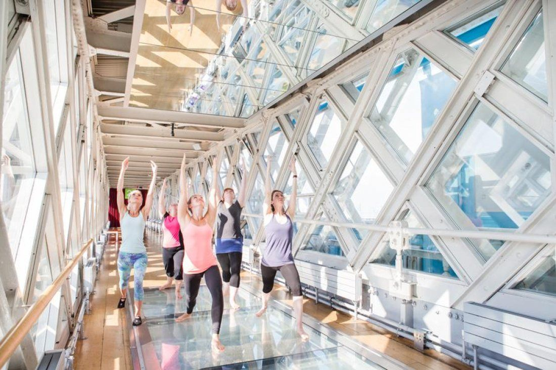 Yoga in the Walkways at Tower Bridge this December