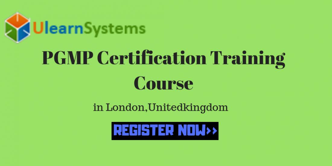 PGMP Certification training Course in LondonUnitedkingdomUlearn Systems