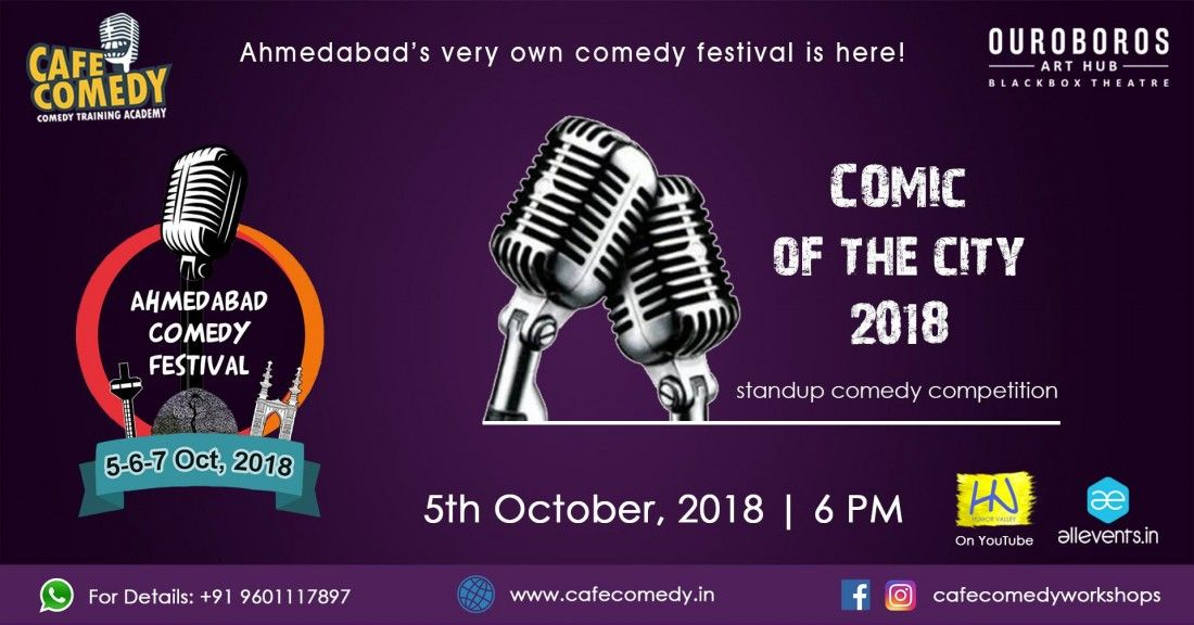Comic of the City 2018 - Day 1  Ahmedabad Comedy Festival