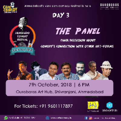 The Panel - Day 3  Ahmedabad Comedy Festival