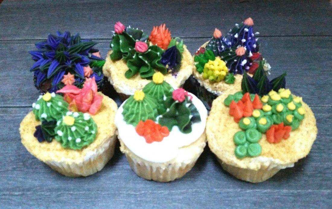 CactiSucculent Cupcake Decorating