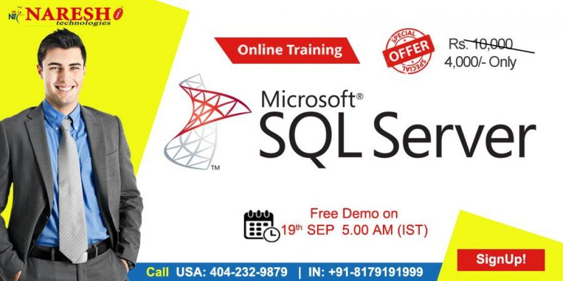 SQL Server Online Training in USA - NareshIT