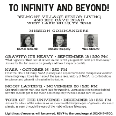 To Infinity and Beyond: NASA at Belmont Village Senior Living West