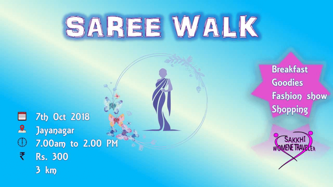 Saree Walkathon- Flaunt your Saree