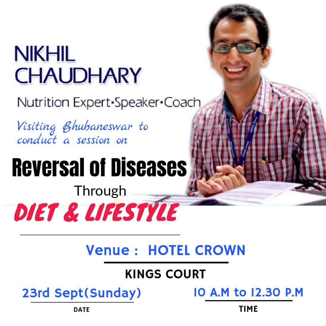Reversal of diseases by diet and lifestyle by Nikhil Chaudhary
