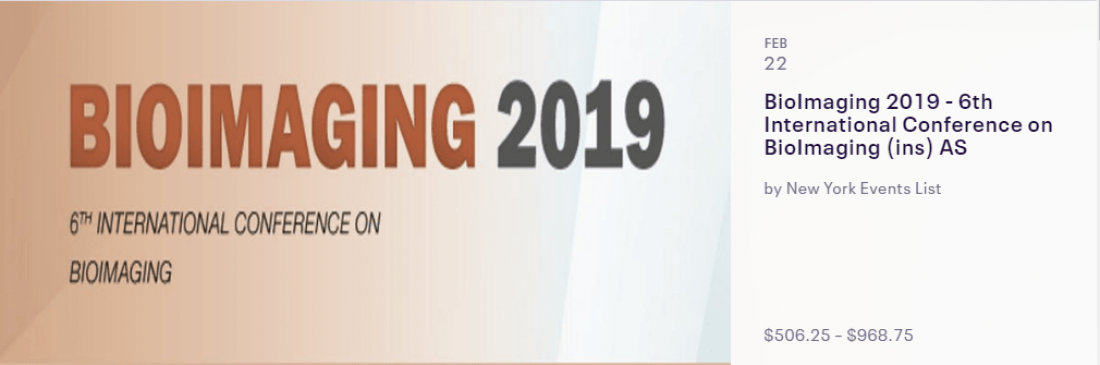 BioImaging 2019 - 6th International Conference in BioImaging