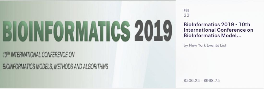 BioInformatics 2019 - 10th International Conference on BioInformatics Models Methods and Algorithms