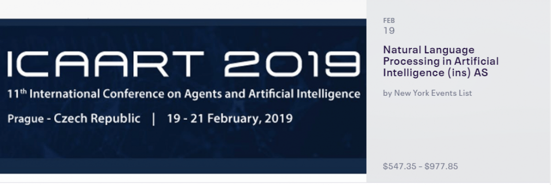 Special Session on Natural Language Processing in Artificial Intelligence - NLPinAI 2019