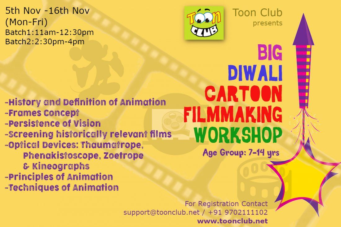 Diwali CARTOON FILMMAKING Workshop