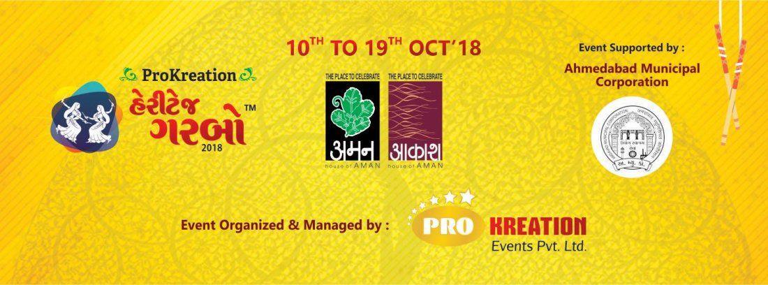 Heritage Garba at Aman Akash Venue in Ahmedabad