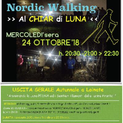 NORDIC WALKING >> Al Chiar di Luna << a LAINATE (MI) - EVENTO PROMOZIONALE