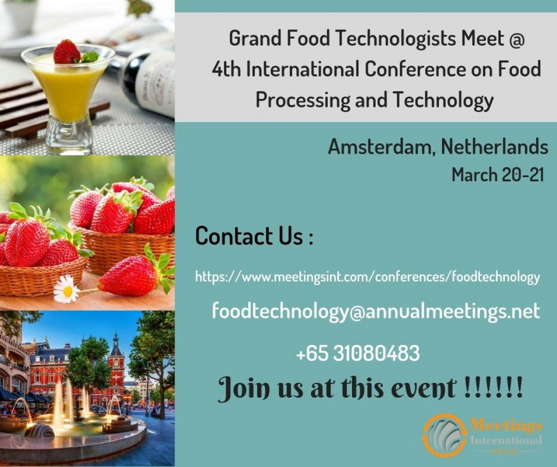 4th International Conference on Food Processing and Technology