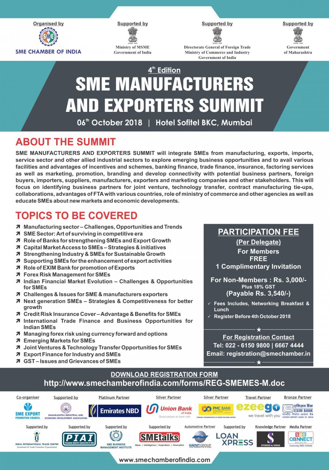 4th Edition SME MANUFACTURERS AND EXPORTERS SUMMIT