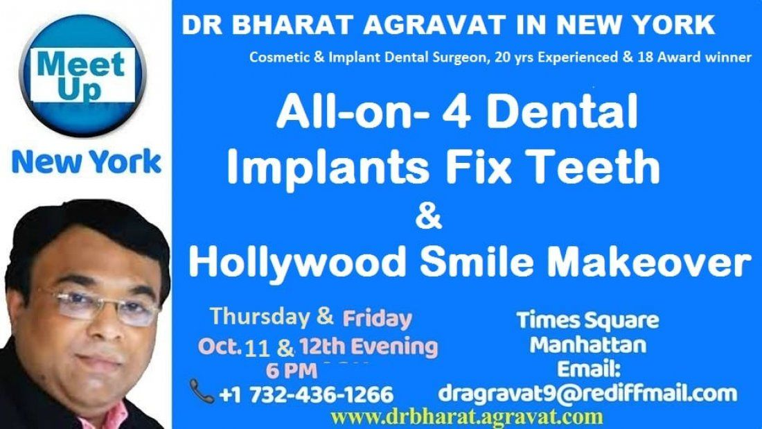 Talk on All on 4 Dental Implants fix teeth & Hollywood Smile at New York by Cosmetic Implant Dentist