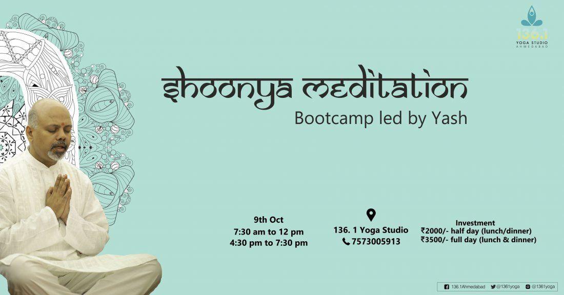 Shoonya Meditation-  bootcamp led by Yash