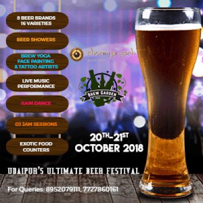 Brew Garden 2018 - Udaipurs First ever Ultimate Beer Festival