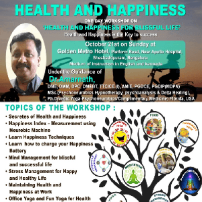 ONE DAY WORKSHOP ON HEALTH AND HAPPINESS FOR BLISSFUL LIFE