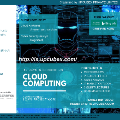 15 Days Inter and training on CLOUD COMPUTING
