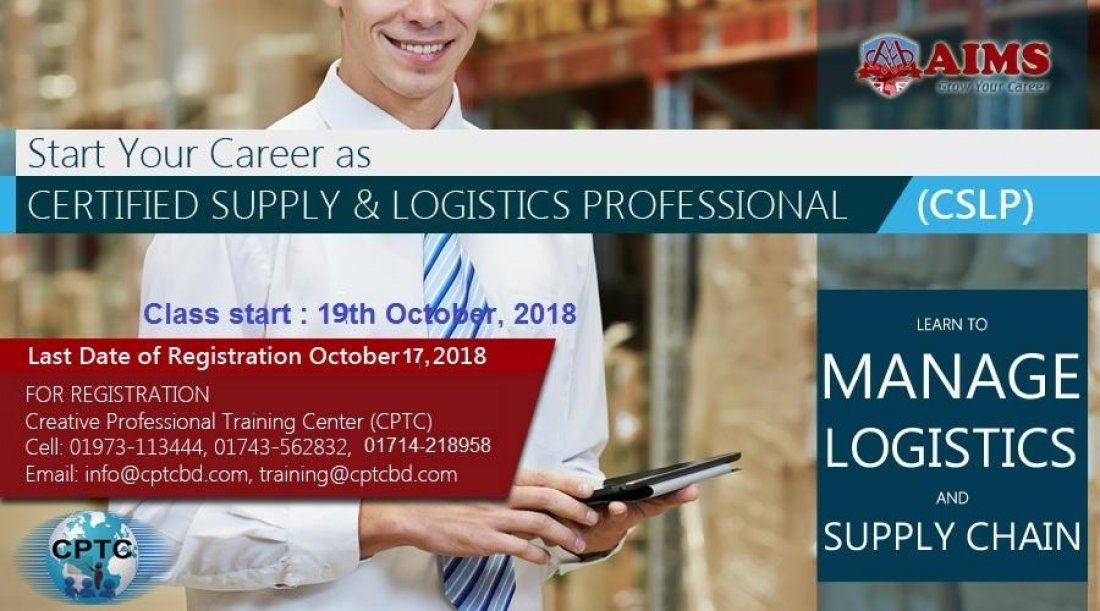 Certified Supply Logistics Professional Cslp At Learning Center