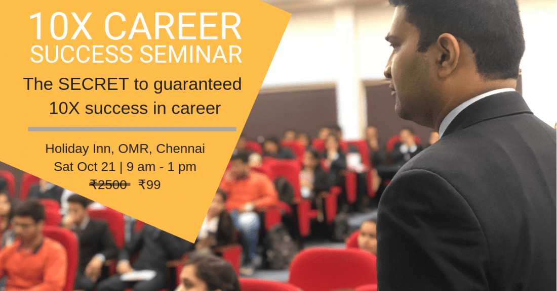 10X Career Success Seminar