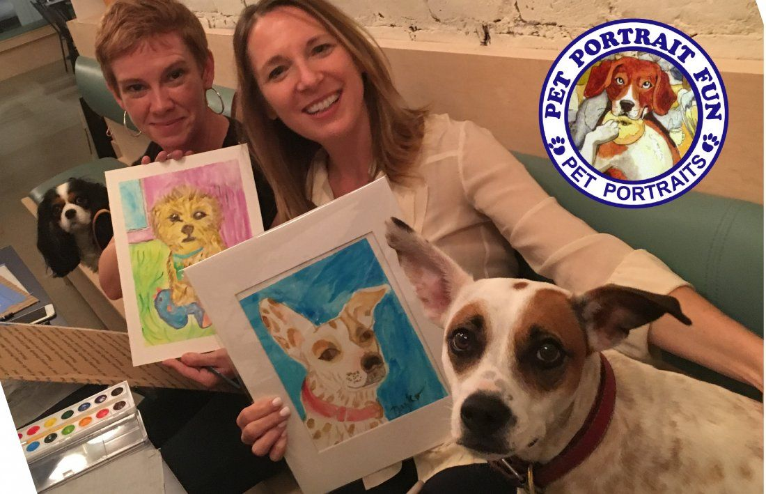Paint Your Pet Portrait Friday Yappy Hour- BorisHortonNov. 9
