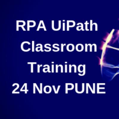 RPA UiPath Training  Weekend Classroom  24 NOV. 18  930 AM  Bhandarkar Road  Pune
