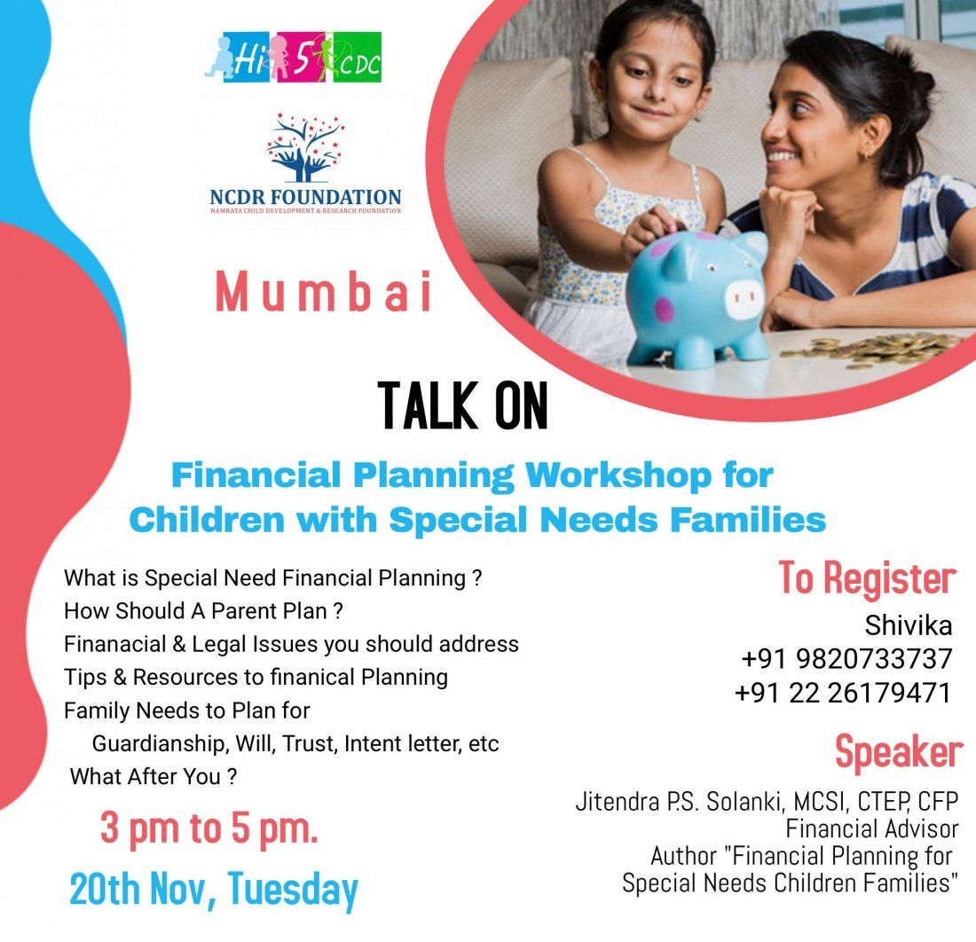 Financial Planning Workshop for  Children with Special Needs Families