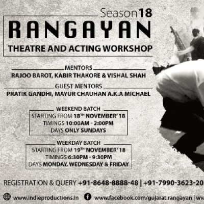 Rangayan - Theatre &amp Acting Workshop (Season 18)