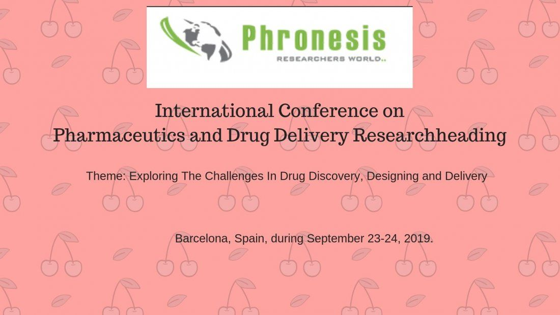 International Conference on  Pharmaceutics and Drug Delivery Research