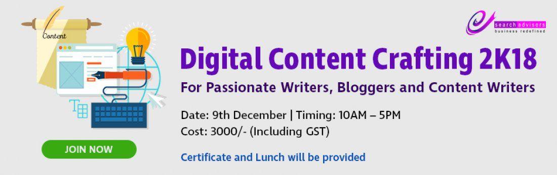 Digital Content Crafting 2k18 Workshop