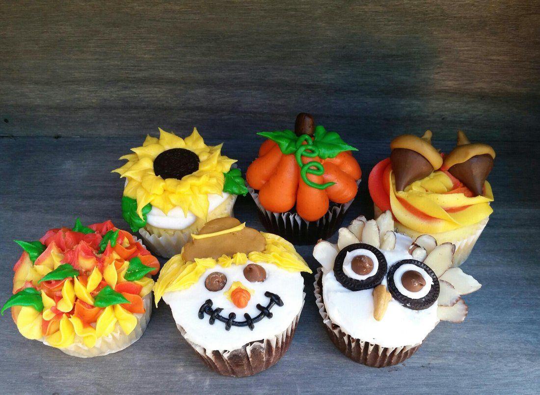 Autumn Cupcake Decorating