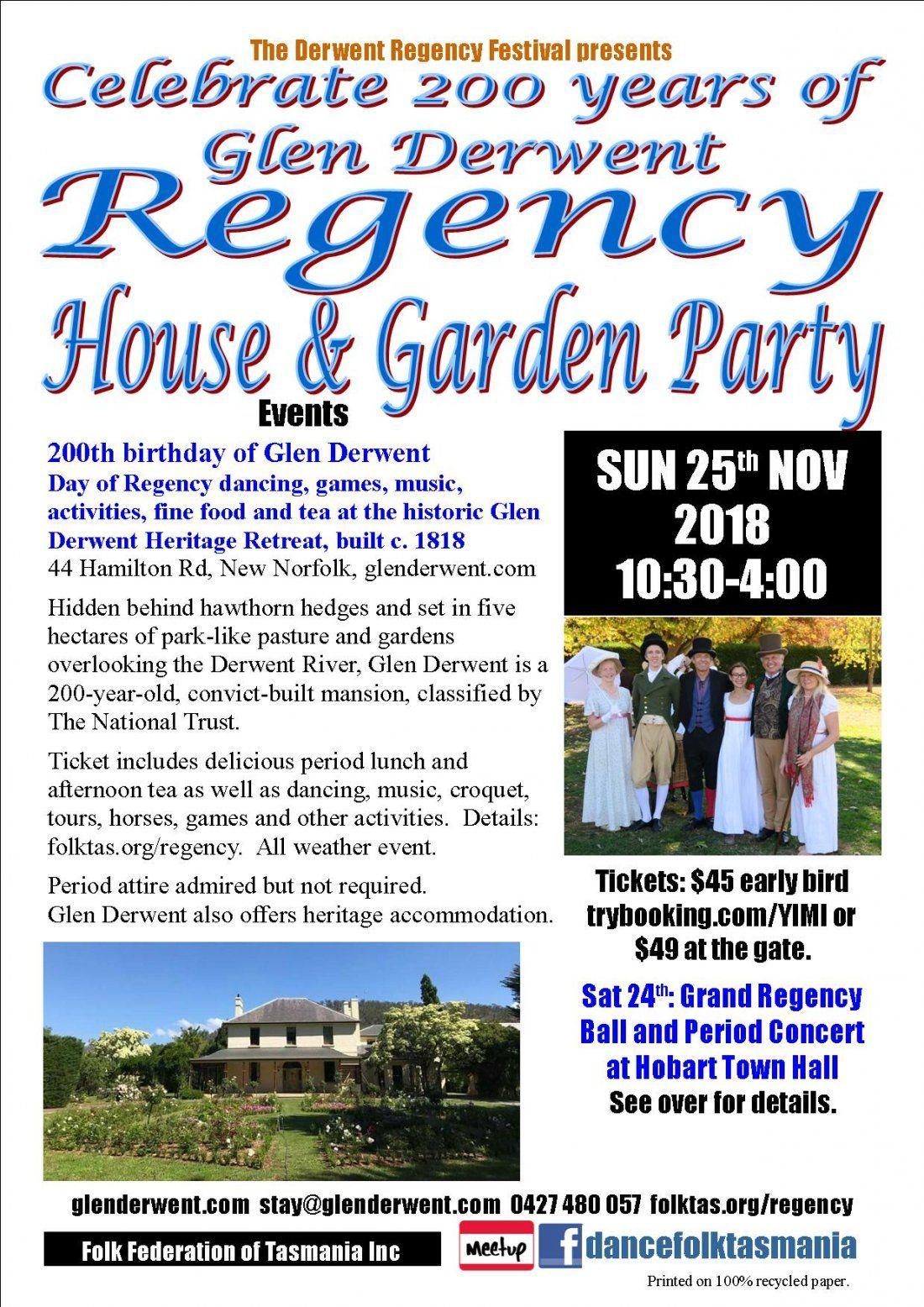 Regency House & Garden Party