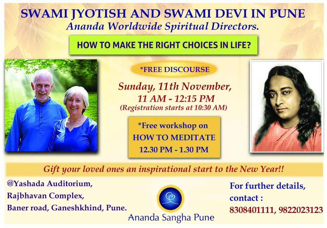How to make right choices in life by Ananda Sangha