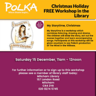 Polka Theatre Presents Storytime with Anna-Christina Christmas Magic