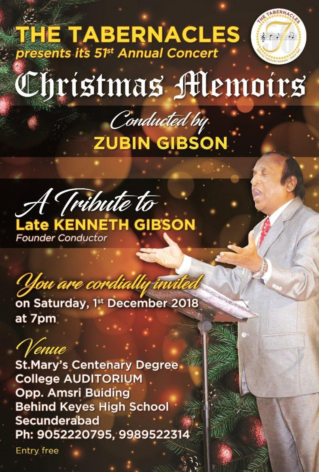 The Tabernacles Christmas Concert Christmas Memoirs