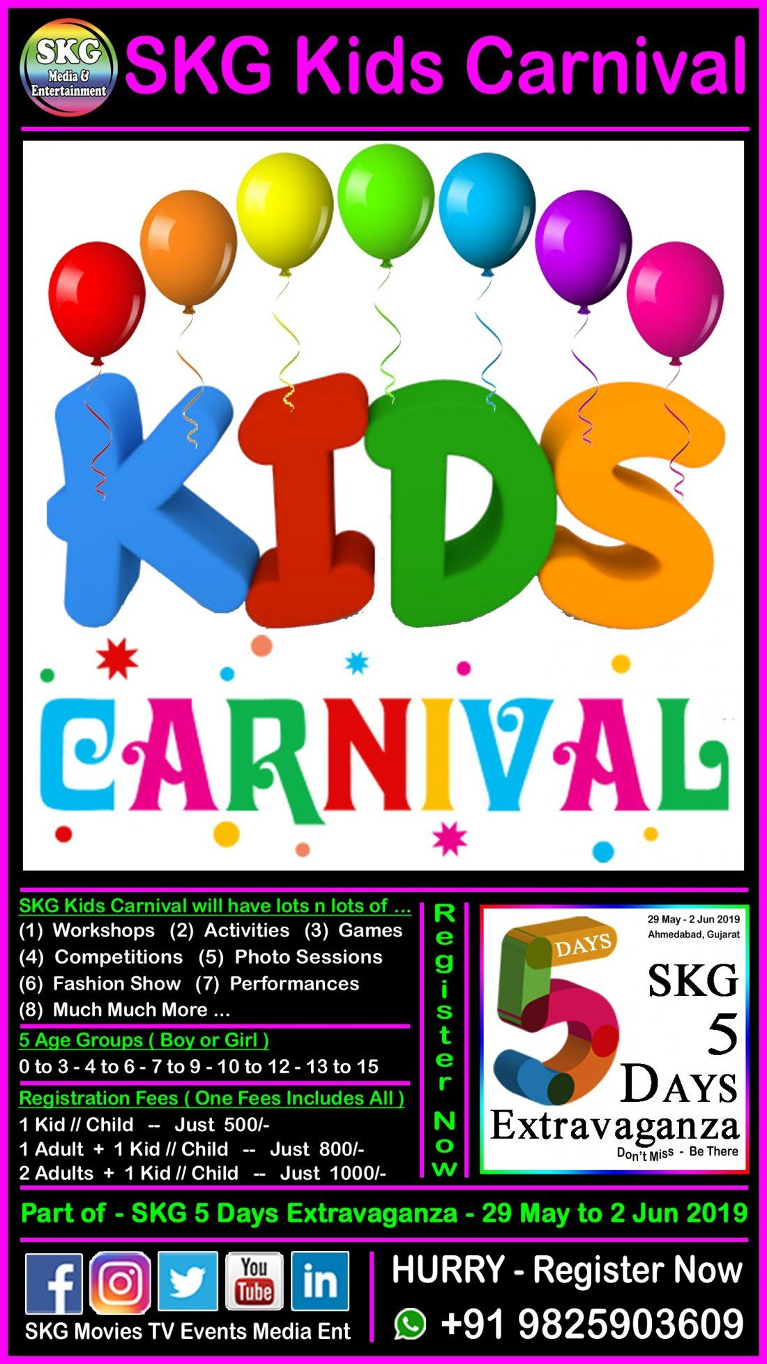 SKG Kids Carnival - Part of SKG 5 Days Extravaganza