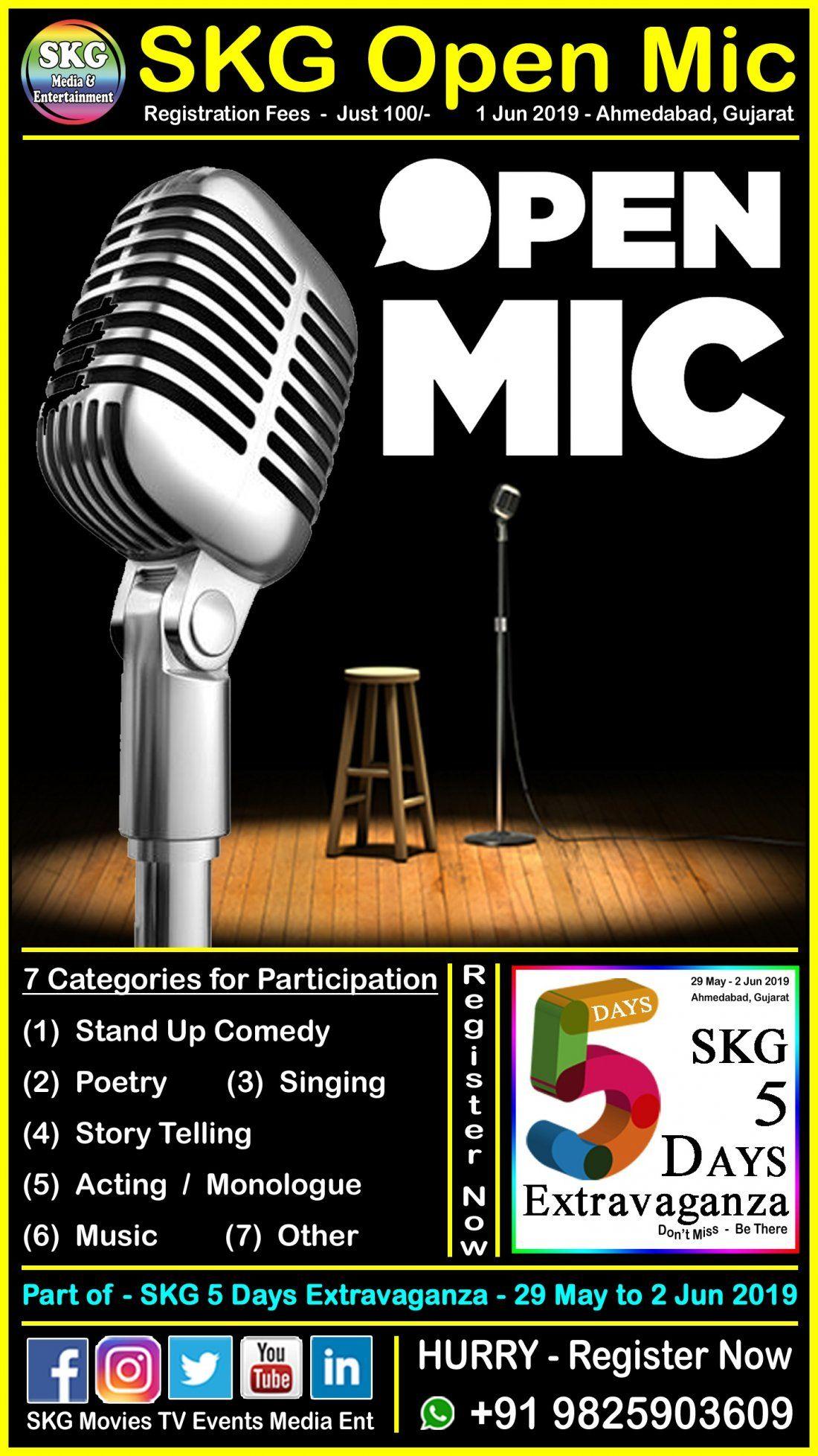 SKG Open Mic - Part of SKG 5 Days Extravaganza