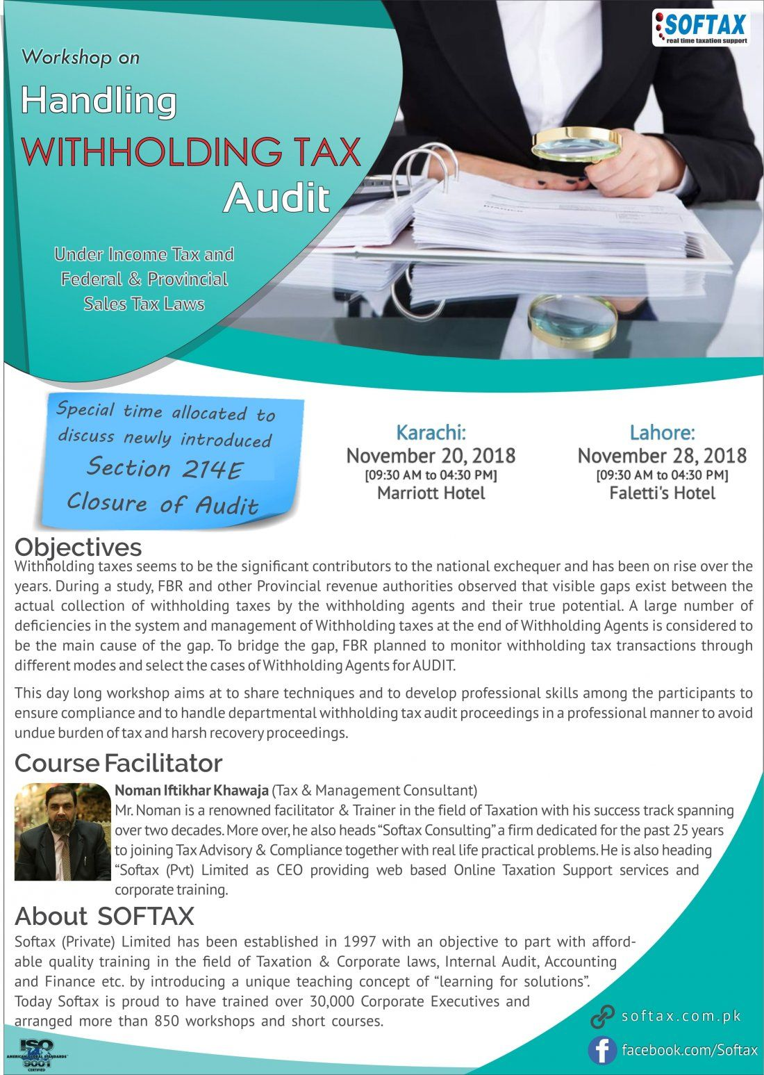 Workshop on Handling Withholding Tax Audit