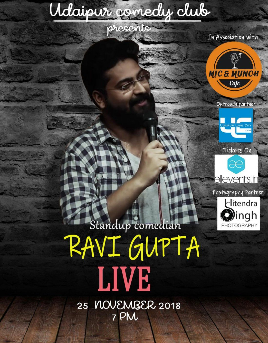 Buy tickets for Ravi Gupta LIVE in Udaipur (Cancelled)