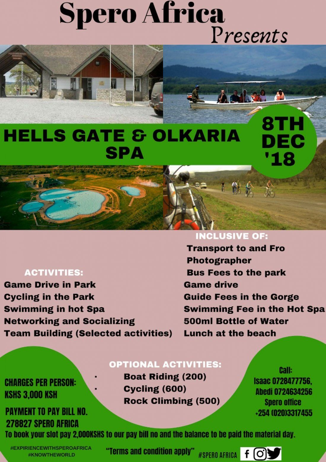 Hells Gate and Olkaria Spa