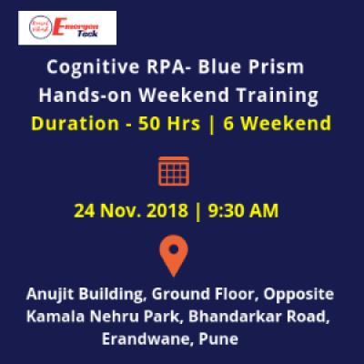 Cognitive RPA BP Masterclass  Weekend  Sat.24 Nov 18  930 AM  Bhandarkar Road PUNE